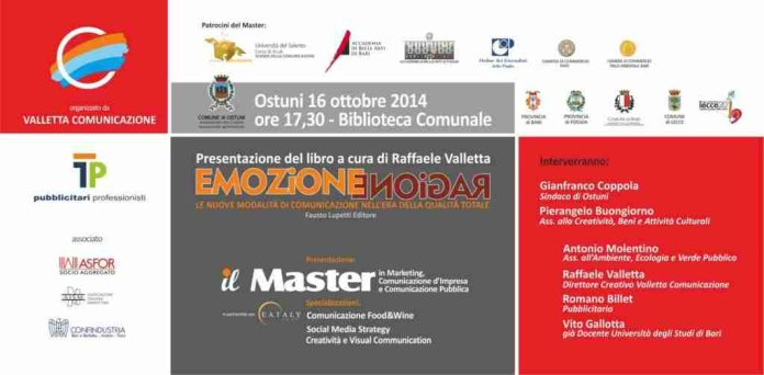 Presentazione Ostuni 16 ottobre Raffaele Valletta