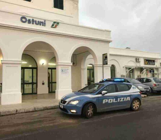Pattuglia Polizia di Ostuni alla Stazione FS
