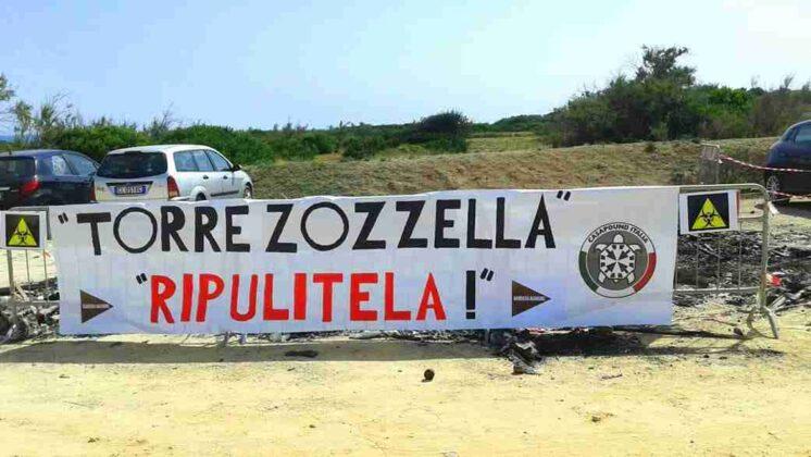 Ostuni: protesta di CasaPound contro l'incuria nelle marine