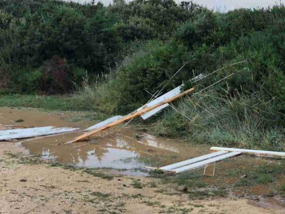 Fortissima tromba marina, danni a Costa Merlata