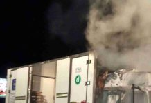 Incendio Camion Ortofrutta