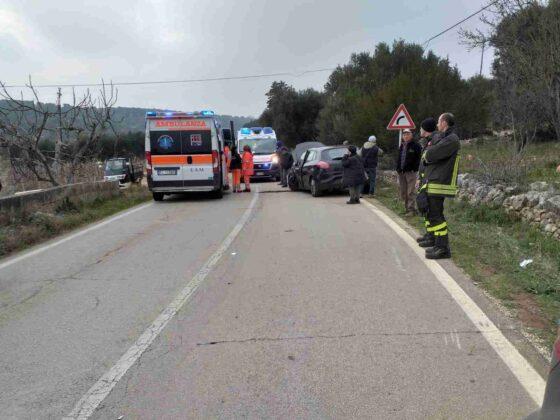 Incidente Stradale sulla Ostuni - Cisternino, tre feriti in Ospedale