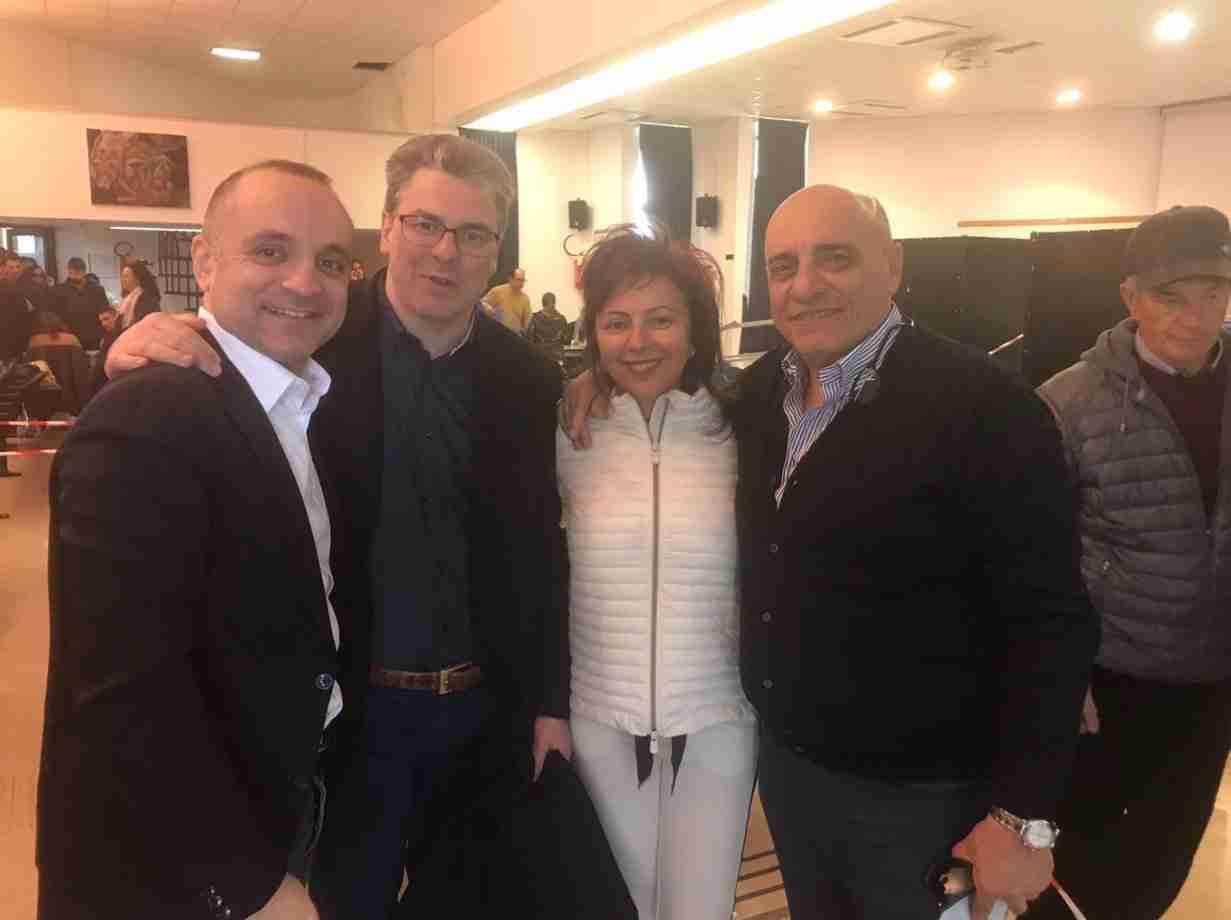 Da destra Mauro D'Attis, Guglielmo Cavallo, Laura De Mola e Lello Di Bari (Forza Italia)