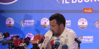 conferenza stampa salvini