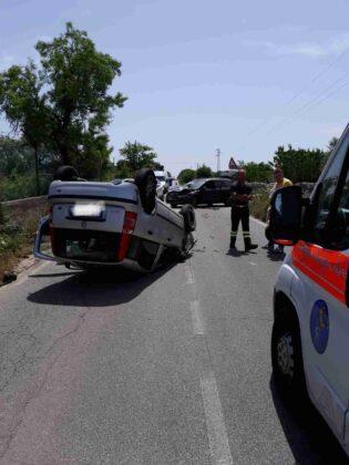 Incidente stradale sulla Ostuni - Ceglie. Quattro feriti.