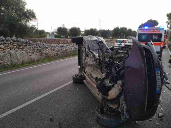 Incidente stradale sulla Ostuni Carovigno: due feriti uno estratto dalle lamiere