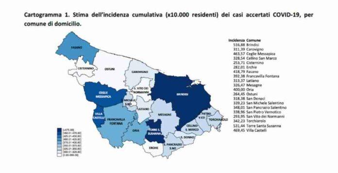 positivi provincia brindisi 11 aprile
