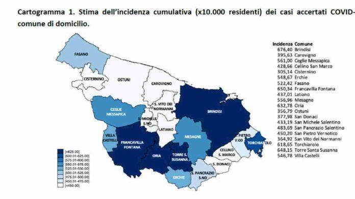 Covid, nel Brindisino meno di 200 casi. Un comune senza contagi